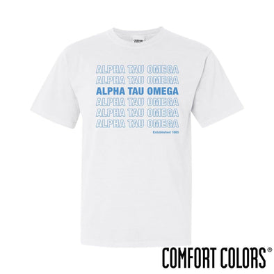 ATO Comfort Colors White Thank You Bag Tee