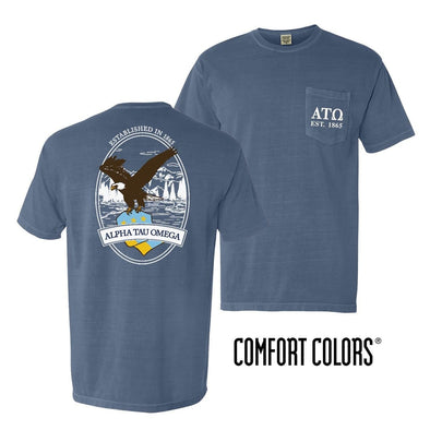 ATO Vintage Blue Comfort Colors Eagle Tee