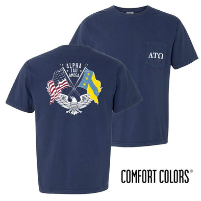 New! ATO Comfort Colors Short Sleeve Navy Patriot tee