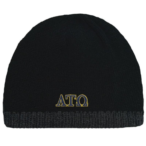 Sale! ATO Black Knit Beanie with Fleece Lining