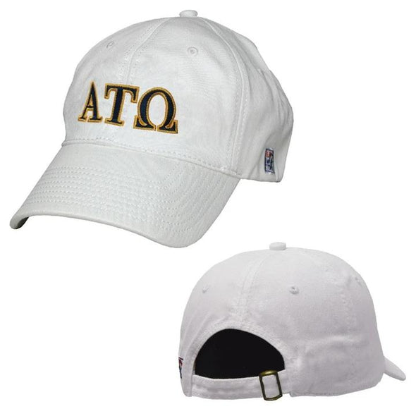 ATO White Greek Letter Adjustable Hat