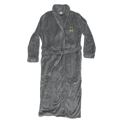New! ATO Personalized Charcoal Ultra Soft Robe
