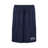 ATO Navy Pocketed Performance Shorts