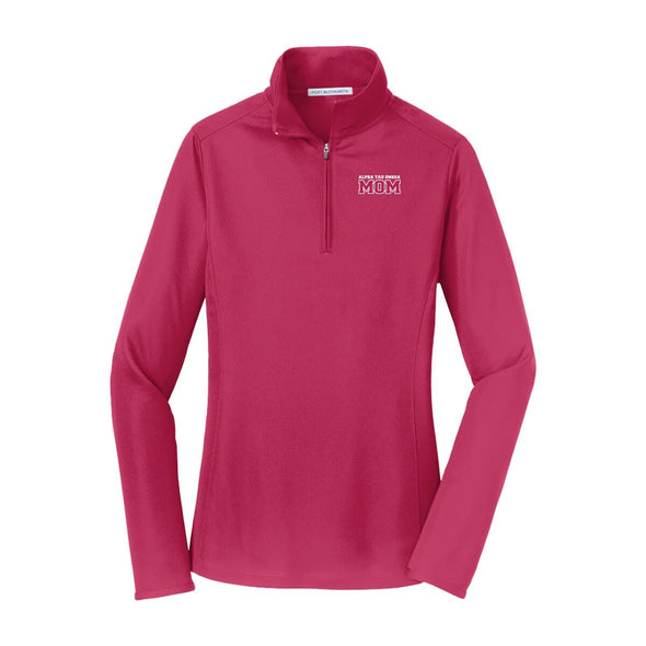 ATO Mom Pink Performance 1/4 Zip