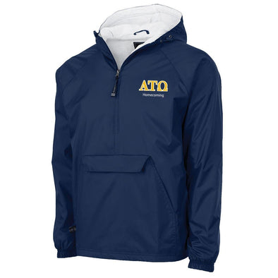 ATO Personalized Charles River Navy Classic 1/4 Zip Rain Jacket