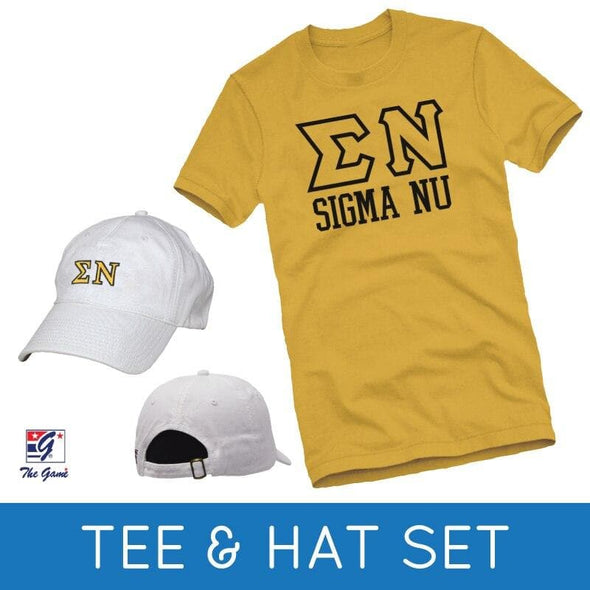 Sale! Sigma Nu Tee & Hat Gift Set