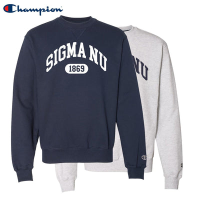 New! Sigma Nu Heavyweight Champion Crewneck Sweatshirt