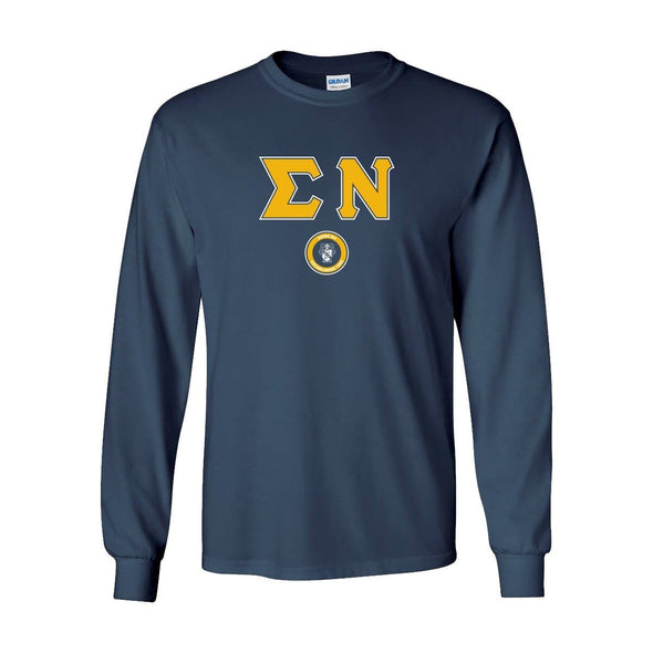 Sigma Nu Navy Vintage Long Sleeve Tee