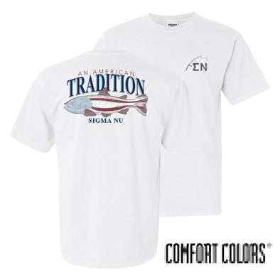 Sigma Nu American Trout Comfort Colors Tee