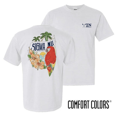 New! Sigma Nu Comfort Colors Tropical Tee