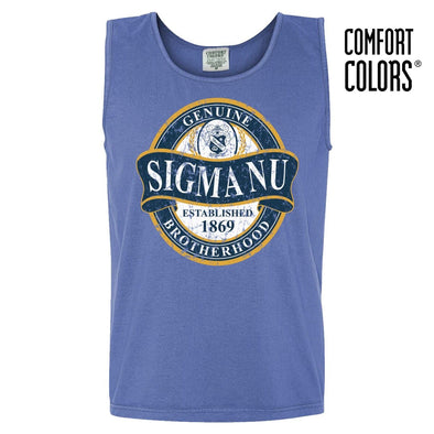 Sigma Nu Faded Blue Comfort Colors Tank