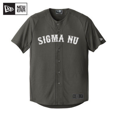 Sigma Nu New Era Graphite Baseball Jersey