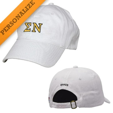 Sigma Nu Personalized White Hat