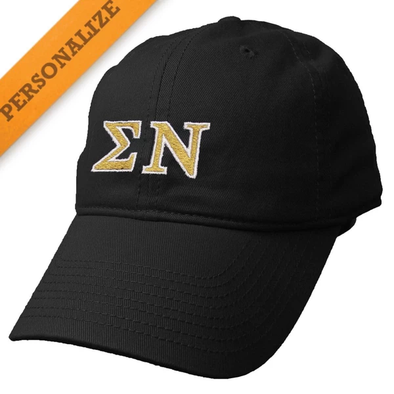 New! Sigma Nu Personalized Black Hat by The Game