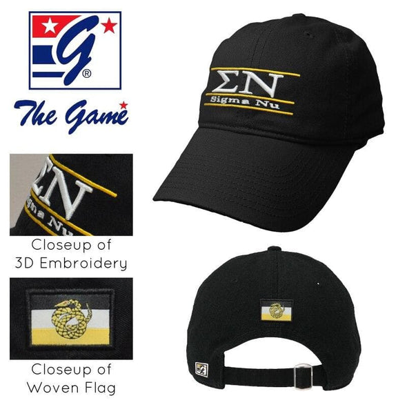 Clearance! Sigma Nu Black Ultimate Hat by The Game®