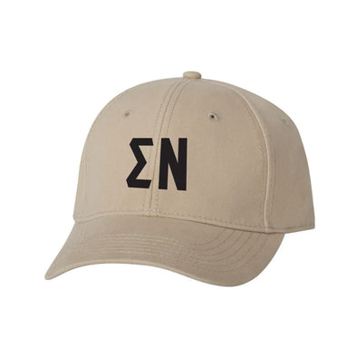 Sigma Nu Structured Greek Letter Hat