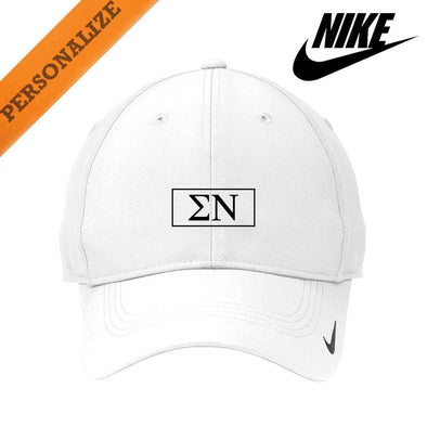 New! Sigma Nu Personalized White Nike Dri-FIT Performance Hat