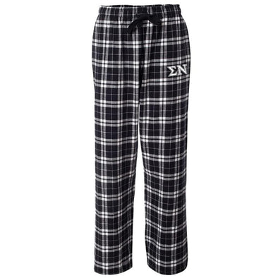 Sigma Nu Black Plaid Flannel Pants