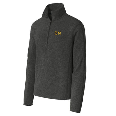 Sigma Nu Charcoal 1/4-Zip Microfleece Jacket