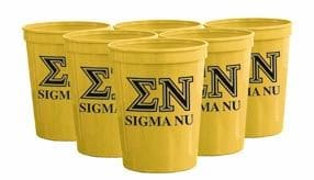 Sigma Nu Yellow Plastic Cup
