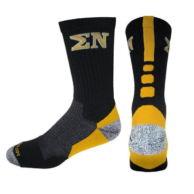 Sigma Nu Black & Gold Performance Shooter Socks