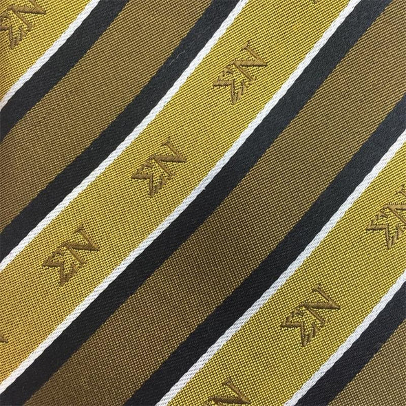 Sale! Sigma Nu Gold and Black Striped Silk Bow Tie