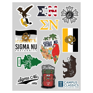 New! Sigma Nu Sticker Sheet