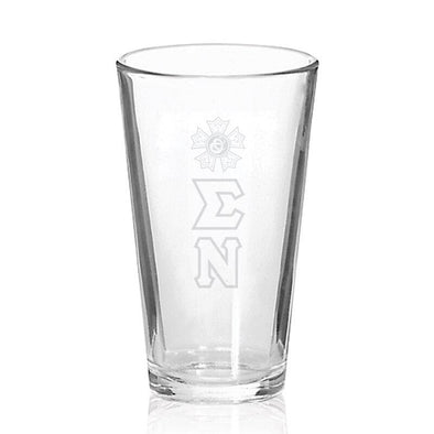 Sale! Sigma Nu Engraved Fellowship Glass