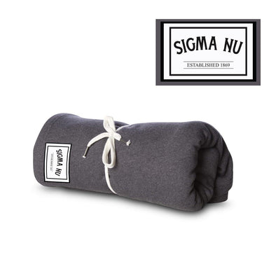New! Sigma Nu Sewn Patch Blanket