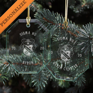 New! Sigma Nu 2020 Personalized Limited Edition Holiday Ornament