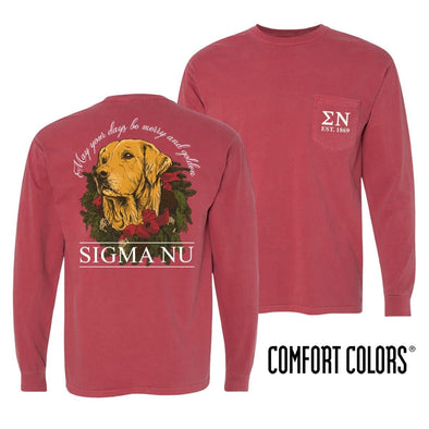 Sigma Nu Crimson Comfort Colors Retriever Tee