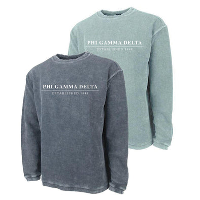 New! FIJI Charles River Corded Crew Sweatshirt