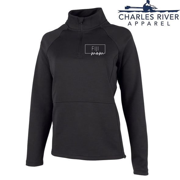 New! FIJI Charles River Mom Black Quarter Zip