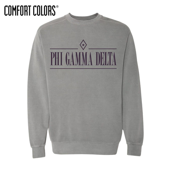FIJI Gray Comfort Colors Crewneck