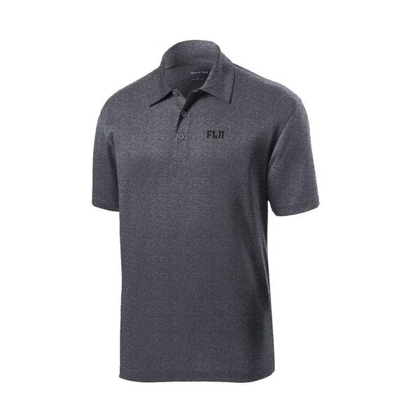 FIJI Dark Heather Performance Polo