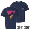 New! FIJI Comfort Colors Navy Short Sleeve Miami Pocket Tee