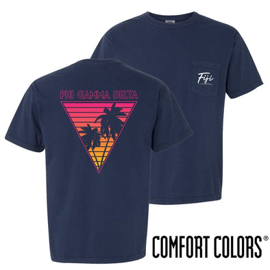 FIJI Comfort Colors Navy Short Sleeve Miami Pocket Tee