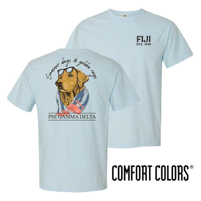 FIJI Blue Comfort Colors Retriever Tee