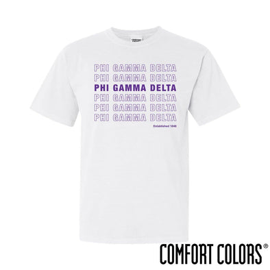 New! FIJI Comfort Colors White Thank You Bag Tee