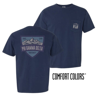 FIJI Comfort Colors Mountain Pocket Tee