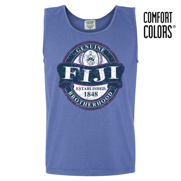 FIJI Faded Blue Comfort Colors Tank