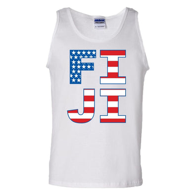 FIJI White USA Tank Top