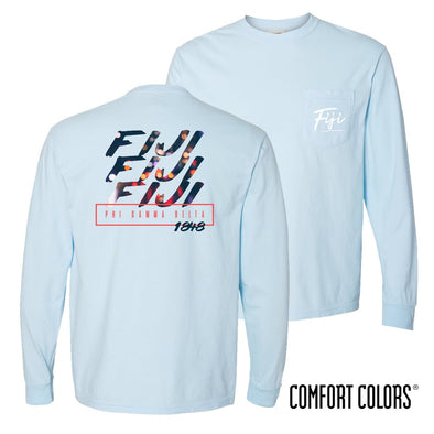 FIJI Comfort Colors Chambray Long Sleeve Urban Tee