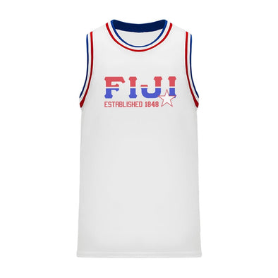 New! FIJI Retro Block Basketball Jersey