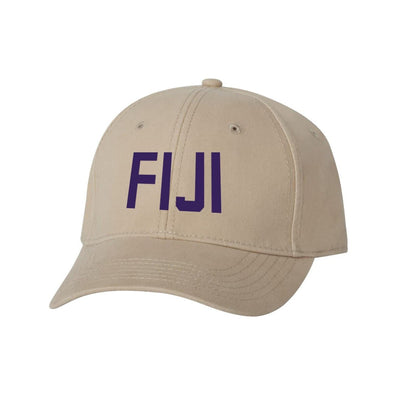 FIJI Structured Greek Letter Hat