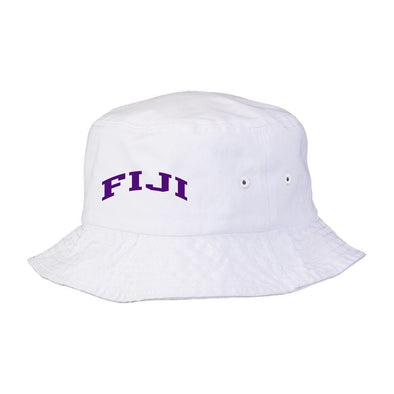 New! FIJI Title White Bucket Hat
