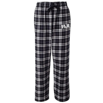 FIJI Black Plaid Flannel Pants
