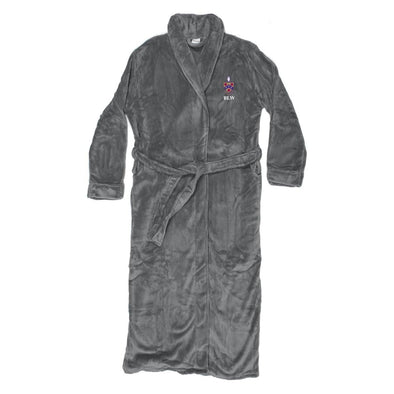 New! FIJI Personalized Charcoal Ultra Soft Robe
