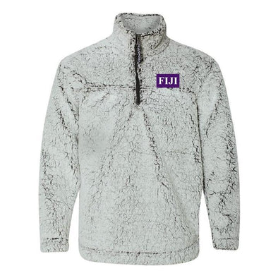 New! FIJI Flag Sherpa 1/4 Zip Pullover