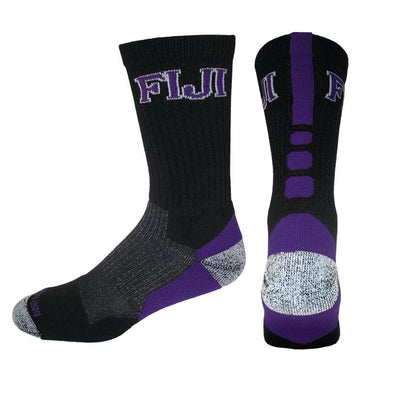 FIJI Black & Purple Performance Shooter Socks